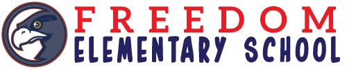 Freedom Elementary School logo centered